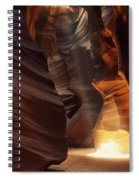 Sunbeam In Antelope Canyon Spiral Notebook