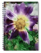 Sunburst In Lavender Spiral Notebook