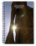 Sunburst Through Spire Spiral Notebook