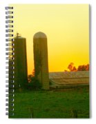 Sundown At The Ranch Spiral Notebook