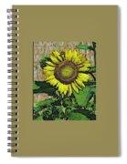 Sunflower Face Spiral Notebook