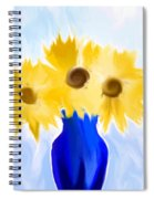 Sunflower Fantasy Still Life Spiral Notebook