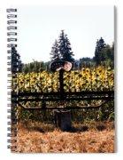 Sunflower Farm Scene Spiral Notebook