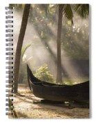 Sunlight Shining On A Canoe Spiral Notebook