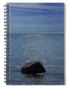 Sunlight Sparkling On The Water At Sturgeon Point Spiral Notebook
