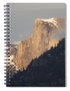 Sunlit Half Dome Spiral Notebook