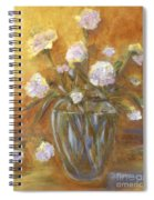 Sunny Carnations In A Vase Spiral Notebook