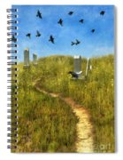 Sunny Graveyard With Birds Spiral Notebook