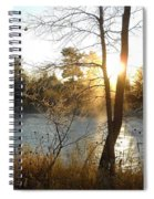 Sunrise Across The Mississippi Spiral Notebook