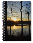 Sunrise Along The Delaware River Spiral Notebook