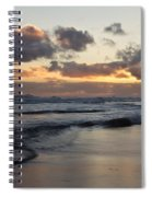 Sunrise At Bamburgh Beach Spiral Notebook