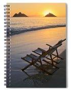 Sunrise At Lanikai Spiral Notebook