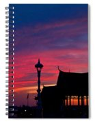 Sunrise At Sisowath Quay. Spiral Notebook