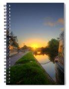 Sunrise At The Boat Inn Spiral Notebook