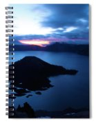 Sunrise At The Crater Spiral Notebook