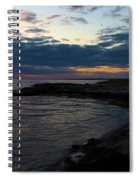Sunrise At The Edge Spiral Notebook