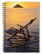 Sunrise Beach Lounging Spiral Notebook
