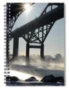 Sunrise Blue Water Bridges Fog Spiral Notebook