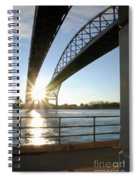 Sunrise Blue Water Bridges Spiral Notebook