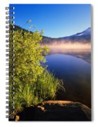 Sunrise Fog On Trillium Lake Spiral Notebook