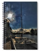 Sunrise Moon Dance Spiral Notebook