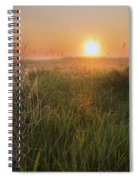 Sunrise On A Dew-covered Cattle Pasture Spiral Notebook
