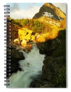 Sunrise On A Waterfall At Glacier  Spiral Notebook