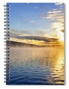 Sunrise On Foggy Lake Spiral Notebook
