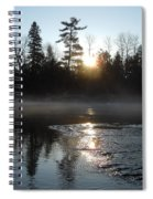 Sunrise On Ice Spiral Notebook