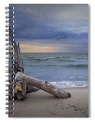 Sunrise On The Beach With Driftwood At Oscoda Spiral Notebook