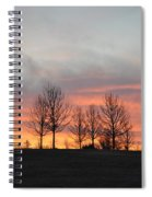 Sunrise On The Hill Spiral Notebook