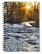 Sunrise On The St Vrain River Spiral Notebook