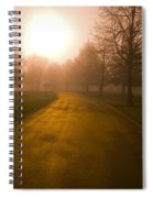 Sunrise Over Country Road, Oregon Spiral Notebook