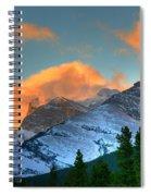 Sunrise Over Crowsnest Pass, Border Spiral Notebook