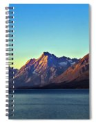 Sunrise Over Jackson Lake Spiral Notebook
