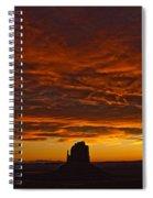 Sunrise Over Monument Valley, Arizona Spiral Notebook