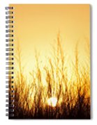 Sunrise Over Nachusa Grasslands Spiral Notebook