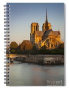 Sunrise Over Notre Dame Spiral Notebook