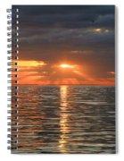 Sunrise Over Ripples Spiral Notebook