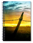 Sunrise Over The Prairie Spiral Notebook