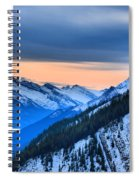 Sunrise Over The Rockies Spiral Notebook
