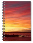 Sunrise Over Union Reservoir In Longmont Colorado Boulder County Spiral Notebook