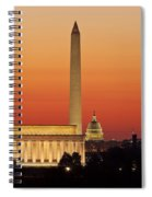 Sunrise Over Washington Dc Spiral Notebook