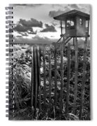 Sunrise Sentinel In Black And White Spiral Notebook