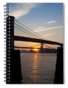 Sunrise Through The Two Bridges Spiral Notebook