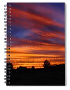 Sunset 2   09 22 12 Spiral Notebook