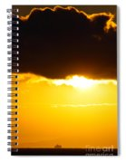 Sunset And Cloud At Sea Spiral Notebook