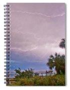 Sunset And Lightning Spiral Notebook