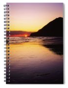 Sunset And Sea Spiral Notebook