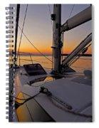 Sunset At Burlington Harbour ... Spiral Notebook